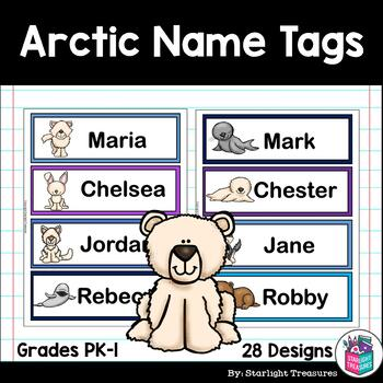 Arctic Name Tags - Editable