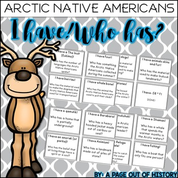 Arctic Native Americans I have! Who has? Game (Inuit, Aleu