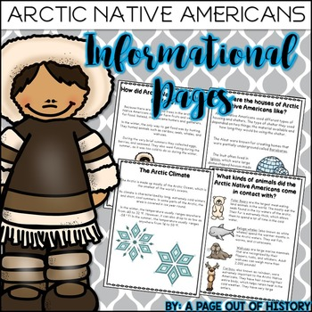 Arctic Native Americans Informational Pages (Inuit, Aleut,
