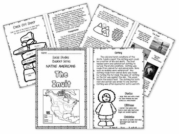 Arctic Native Americans - Inuit Booklet