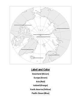 Arctic Ocean Text Evidence and Mapping Worksheet
