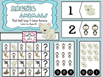 Arctic Polar Animals Math Centers / Small Group Activities - Counting Patterns