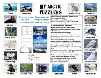 Arctic Puzzlers Task Cards