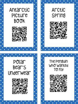 Arctic QR Code Read Aloud Listening Centers