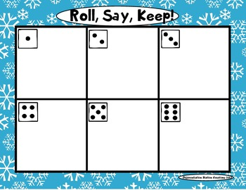 """Arctic """"Roll, Say, Keep!"""" Pre-Primer Dolch Sight Word Center + Extra"""