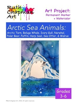 Arctic Sea Animals: Art Lesson for Grades 3-6