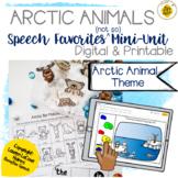 Arctic Sensory Bin & Play Dough Companion for Speech & Language