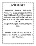 Arctic Study,  Montessori 3-part cards
