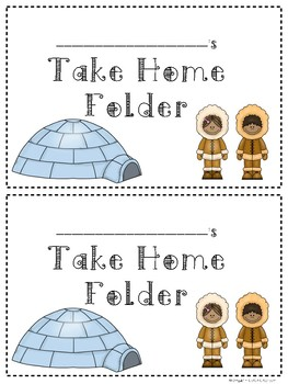 Arctic Theme Labels for Take Home Folders