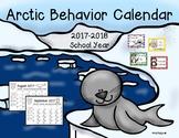 Arctic Themed Behavior Chart and Calendar '17-'18