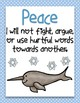Arctic Themed Fruit of the Spirit Classroom Rules Posters *FREEBIE!*