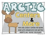 Arctic Themed Math and Literacy Centers with writing activities and organizers