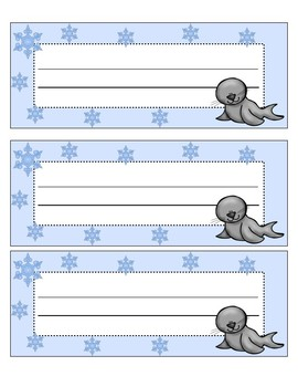 Arctic Themed Name Plate