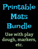 Arctic Themed Play Dough Mats Numbers 1-10