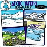 Arctic Tundra Background Scenes Clip Art - Chirp Graphics