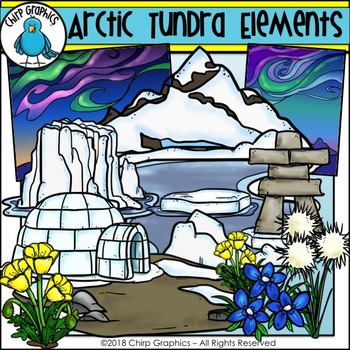 Arctic Tundra Elements Clip Art - Chirp Graphics