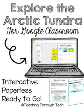 Arctic Tundra Interactive Digital Notebook for Google Drive