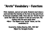"""Arctic"" Vocabulary - Functions"