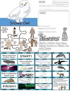 Autism Arctic White  Reader's Theatre & Activities CCSS 2nd Grade