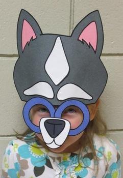 Winter Arctic Husky Dog Sentence Strip Mask