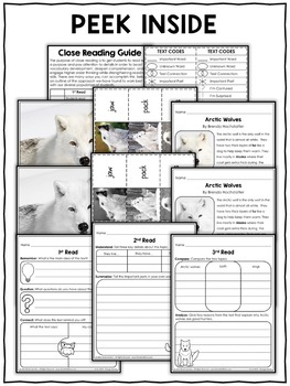 Close Reading Passage - Arctic Wolf Activities