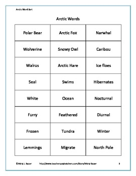 Arctic Word Sort