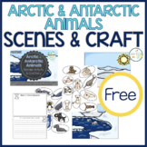 Arctic and Antarctic Animals Language Scenes and Crafts for Speech Therapy FREE