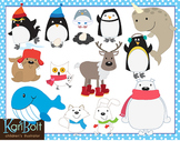 Arctic and Antarctic Animals Clip Art Bundle