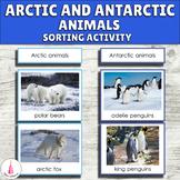 Arctic and Antarctic Animals Sorting Montessori Activity (