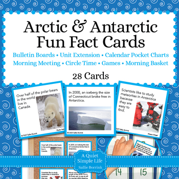 Arctic and Antarctic Unit Activity - Fun Fact Cards for Ga