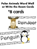 Arctic animal write the room/word wall