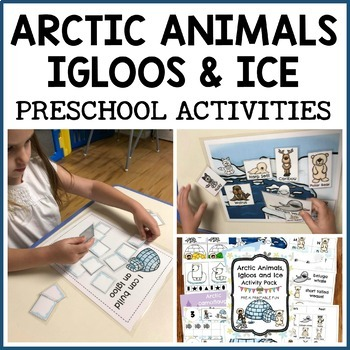 Arctic animals igloos and ice activities for preschool, pre-k and tots