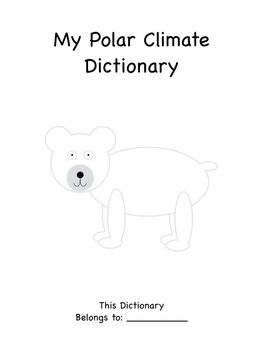 Arctic/Polar Unit Words Dictionary