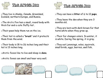 Arctic Tundra Animal and Habitat Research Informative and Narrative Writing
