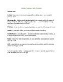 Arduino Vocabulary Worksheet