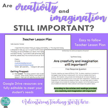 Are Creativity and Imagination Important? {An Inquiry-Based Synthesis Essay}