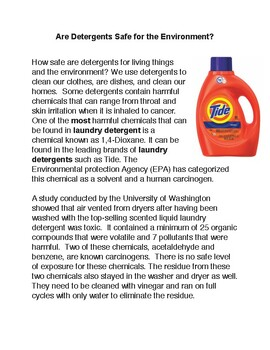 Are Detergents Safe for the Environment PDF