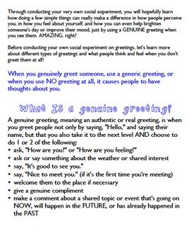 Are Greetings Powerful? A Social Skills Experiment for Kids