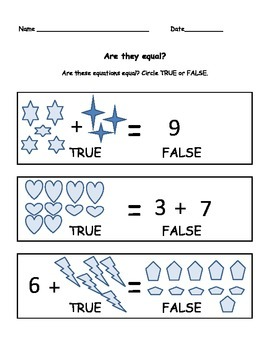 Are They Equal? Worksheet