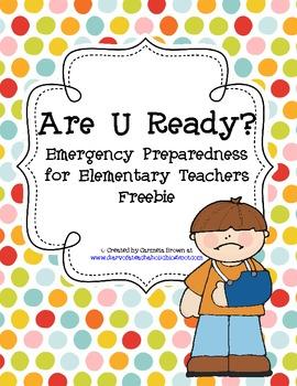 Are U Ready?  Emergency Preparedness Freebie