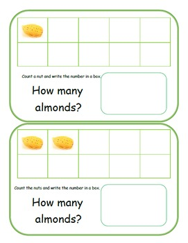 Are We Nuts? Yes, We Are! with counting and adding Almonds.