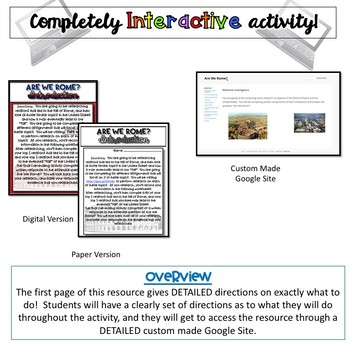 Are We Rome?  PBL Activity