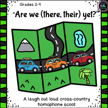 """Are We (There, Their) Yet?""  Homophone Task Card Scoot"