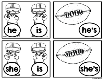 Are YOU Ready for some FOOTBALL?  Contraction Matching Game