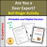 Are You A Deer Expert Anticipation Activity