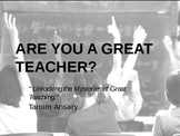 Are You A Great Teacher?
