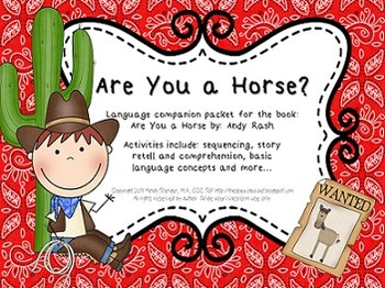 Are You A Horse? – Speech and Language Activities (Cowboy-Themed Book Companion)