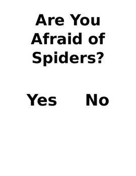 Are You Afraid of Spiders Classroom Graph and Worksheet