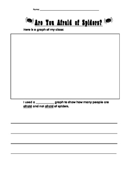 Are You Afraid of Spiders? Graphing and writing worksheet