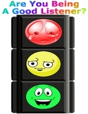 Are You Being A Good Listener, Behavior Chart, Traffic Light